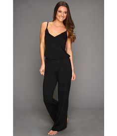 Splendid Essential Long Romper Black - Zappos.com Free Shipping BOTH Ways