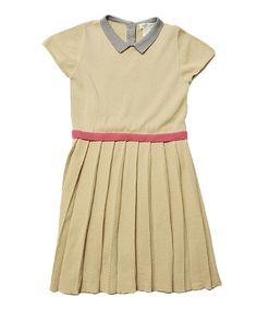 Look at this Toast Pleated Maxwell Sweater Dress - Toddler & Girls on #zulily today!