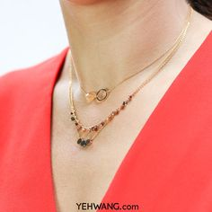 Pretty layers of different Yehwang necklaces <3