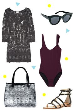 3 Day-To-Night Beach Ensembles #refinery29  http://www.refinery29.com/beach-outfits#slide2  Who says summer has to mean bright colors? If you're into moodier shades, you can still make a day-to-night beach look work. In fact, we love these darker hues for textured cover-ups in thick crochet.