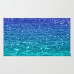 SEA SPARKLE Area & Throw Rug by Catspaws - $28.00