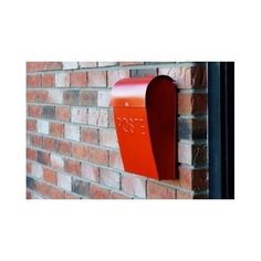 Red Vintage Mailbox Wall Mount Post Box Commercial Retro Postal Country Steel  #RedVintageMailbox