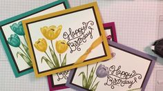 Stampin' Up! Happy Birthday card featuring Tranquil Tulips Stamp Set wit...