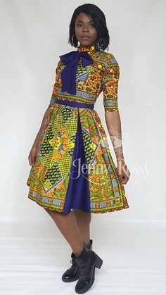 Excited to share the latest addition to my shop: African clothing Midi dress Ankara women clothing African dress African American Fashion, Latest African Fashion Dresses, African Dresses For Women, African Print Dresses, African Print Fashion, Africa Fashion, African Attire, African Wear, African Women