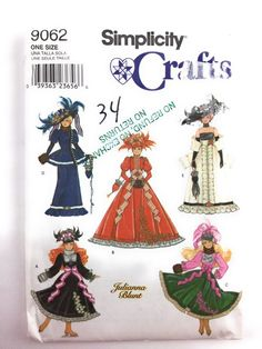 Simplicity 9062 Fashion Doll Clothes Sewing Pattern Uncut #Simplicity
