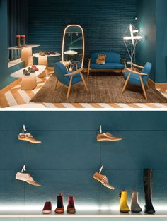 Two Bold Colorful Tascón Shoe Stores By Lagranja Design // Barcelona, Spain