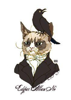 Edgar Allan No - Grumpy Cat 5x7 Signed Art Print. $15.00, via Etsy.