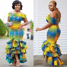Latest Ankara Dress Styles - Loud In Naija Latest Ankara Dresses, Ankara Dress Styles, Latest African Fashion Dresses, African Dresses For Women, African Print Fashion, African Attire, African Wear, Ankara Fashion, African Style