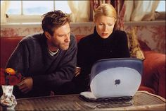 Aaron Eckhart and Gwyneth Paltrow as Maud Bailey and Roland Michell from AS Byatt's 'Possession' English Writers, Music Score, French Films, Gwyneth Paltrow, Classic Films, Book Characters, Picture Photo, Movies, Pictures