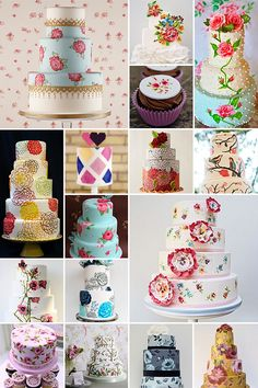 """Painted wedding cakes are a brand new sensation and if Mr Van Gogh and co. were still around, they'd no doubt be all stand in line to sample a piece. Made with food colouring and fondant, """"painted"""" really means """"decorated with artful brushstrokes"""" – in other words, each of these creations are 100% edible so no one will be choking their way through the taste of acrylic paint on the big day."""