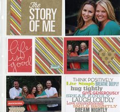 Story of Me inspirational scrapbook pocket pages layout.  so cute!