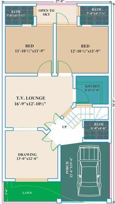 6 Marla house plans, Pakistan House plans, single storey, double storey, View of 6 Marla house plans with views on civilengineerspk. 40x60 House Plans, Town House Plans, 2bhk House Plan, Model House Plan, Simple House Plans, House Layout Plans, Duplex House Plans, House Plans One Story, Best House Plans