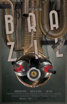 Brazil by Terry Gilliam: Alternative Movie Poster by Gerre-Mae Barcebal, via Behance