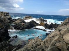 Natural Pool in Aruba - need to rent a jeep to go here #7/89 Aruba attractions