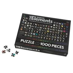 Periodic Table of Elements puzzle from UncommonGoods.  Science nerd and puzzle nerd all in one!  Love it!