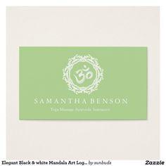 Elegant Black & white Mandala Art Logo Yoga