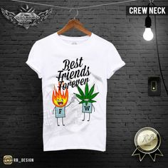 Men's Weed T-shirt Cannabis Drug Best Friends Forever Wording Fun Tank Top MD487