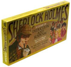 I'm afraid I know nothing about this Sherlock Holmes board game edition. Detective Sherlock Holmes, Parlor Games, Trivial Pursuit, The Guilty, I'm Afraid, Good Ol, Card Games, Mickey Mouse, Baseball Cards