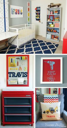 baby boy nursery room ideas 82120393183408257 - Vanessa Shaffer Designs: Travis' Construction Themed Nursery Source by nspirko