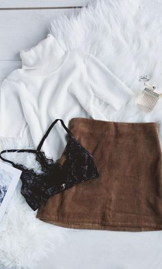 Best of New: Head of the Class Brown Corduroy Mini Skirt
