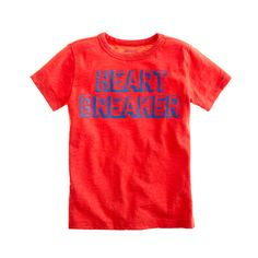 Boys' heartbreaker tee.. My Trace needs this since he's already a heart breaker at mothers day out!!
