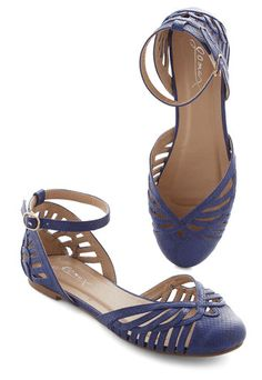Begin your day by buckling into these royal blue sandals, and you're sure to feel like you're walking on cloud nine! With faux snake-skin texture and a collection of cutouts along the toe and counter, these ankle-strap flats fill each step with merriment. Cute Flats, Cute Shoes, Me Too Shoes, Navy Sandals, Shoes Sandals, Heels, Flat Shoes, Flat Dress Shoes, Closed Toe Sandals