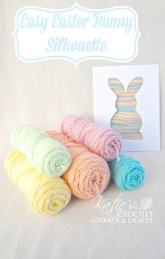 Easy Easter Craft for Toddlers: Bunny Silhouette Yarn Craft #Easter art project - LOVE THIS!