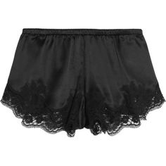 Dolce & Gabbana Lace-trimmed stretch silk-blend satin briefs ($255) ❤ liked on Polyvore featuring intimates, panties, lingerie, satin camisole, lingerie camisole, satin cami, vintage camisole and vintage lingerie