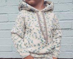 худи, толстовка ,с капюшоном, вяжем спицами Baby Knitting Patterns, Baby Boy Knitting, Knitting For Kids, Baby Patterns, Toddler Outfits, Kids Outfits, Easy Amigurumi Pattern, Baby Staff, Knitting Books