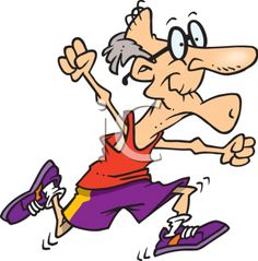 Healthy Old Man Running in a Race