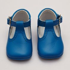 Baby Soft Shoes with T-bar – Blue