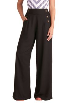 LOVE THESE!! Every Opportunity Pants in Black   Mod Retro Vintage Pants   ModCloth.com