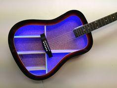 Guitar shelf  9 with L.E.D. Wall mounted custom made guitar
