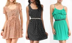 polka dot dresses...LOVE the one on the right!!!!!!!!!!!!!