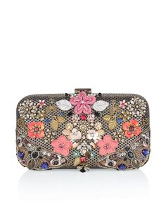 Accessorize Womens Multi Butterfly Hardcase Clutch Bag -- Awesome products selected by Anna Churchill
