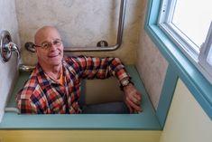 Pete in tub. This man has genius ideas!!!! Read this info before each step!!!!