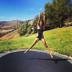 alessandra ambrosio trampoline - Google Search