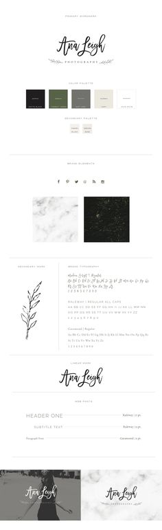 BRANDING IDEAS // Ana Leigh Photography | Branding for Photographers | Clean…