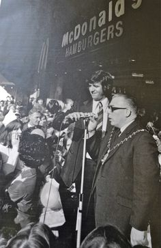 """On 12th October 1974 McDonalds opened their first restaurant in the UK in Powis Street Woolwich. The grand opening was attended by the Mayor, Len Squirrel and DJ Ed Stewart better known as ""Stewpot"""""