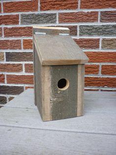 Reclaimed Cedar Bird House by Thumbthingwooden on Etsy, $17.50