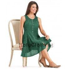 Green Jade Kirra Empire Waist Gypsy Flare BabyDoll Mini Sun Dress Large           50 lbs ago, I had a dress like this!