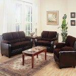 $1224.21  Coaster Furniture - Monika Chocolate Corduroy 3 Piece Living Room Set - 5028113SET