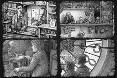 The Invention of Hugo Cabret / Brian Selznick illustration