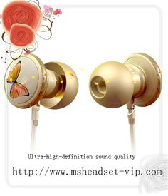 Monster Beats Butterfly with ControlTalk In-Ear Headphones by Vivienne Tam