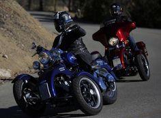 Tilting Motor Works kit turns Harley-Davidson motorcycles into 'reverse trikes' - http://www.justcarnews.com/tilting-motor-works-kit-turns-harley-davidson-motorcycles-into-reverse-trikes.html  HarleyDavidson, into, motor, Motorcycles, Reverse, Tilting, trikes, turns, Works