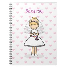 Shop Personalised First Holy Communion notebook created by Avril_Storybooks. First Communion Gifts, First Holy Communion, Back To School Supplies, Catholic Gifts, Cute Little Girls, Prayers, Notebook, Writing, Learning