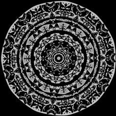 Mandala pattern, realizado con iOrnament APP iOS de iPhone.