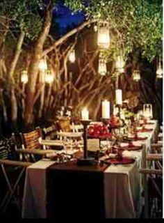 Forest wedding- Love the lanterns  Keywords: #forestweddings #jevelweddingplanning Follow Us: www.jevelweddingplanning.com  www.facebook.com/jevelweddingplanning/