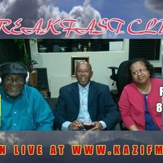 Join the Breakfast Club this morning. 8-9am. Turn your dial to 88.7FM and tell us what's on your mind! #talkradio #ujima2016 #embracetheday @kazifm88.7