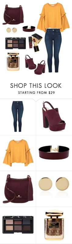 """""""Untitled #59"""" by mira-163 ❤ liked on Polyvore featuring J Brand, Jessica Simpson, MANGO, Vanessa Mooney, Vince Camuto, Magdalena Frackowiak, NARS Cosmetics, By Terry and Tom Ford"""